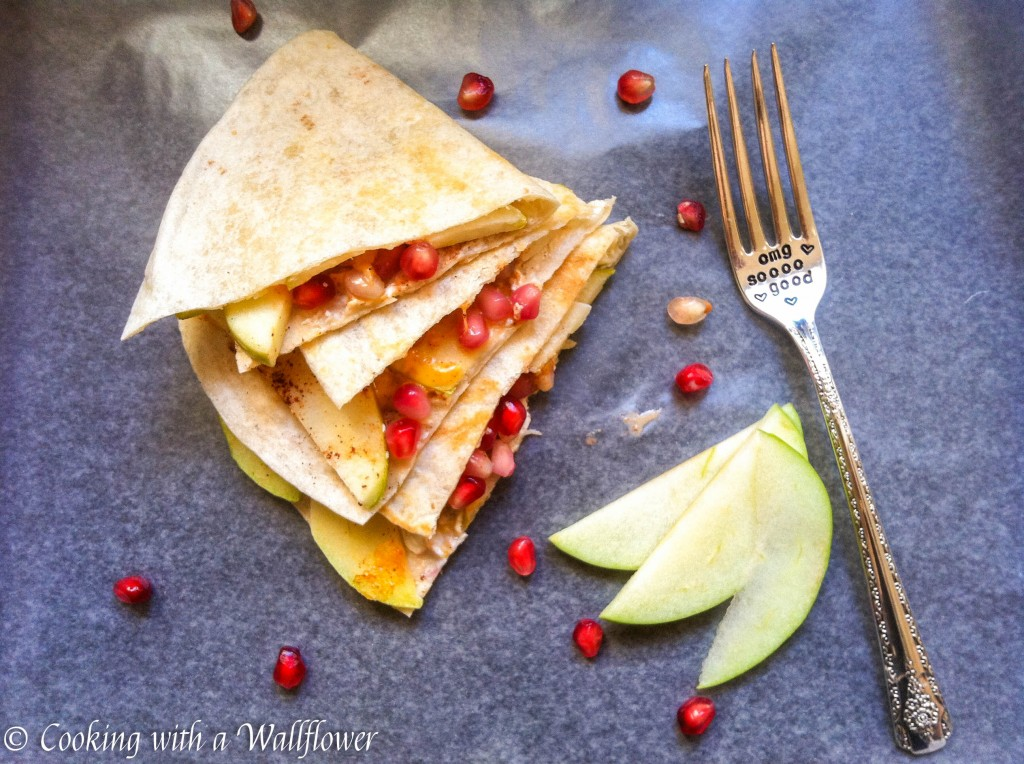 Pomegranate Apple Quesadillas