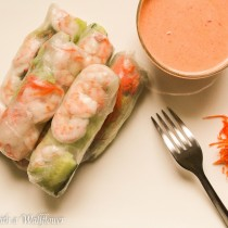 Shrimp Spring Rolls with Creamy Sweet and Spicy Sauce | Cooking with a Wallflower