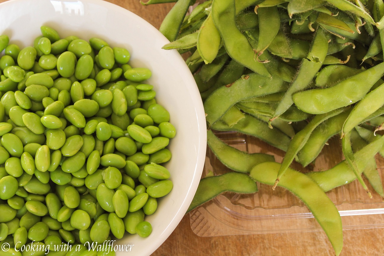 Keep deshelling the edamame until you have about a cup. This is a ...