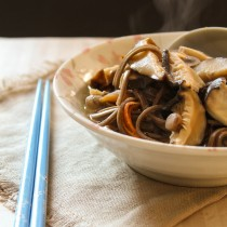 Three Mushrooms Soba Noodle Miso Soup| Cooking with a Wallflower