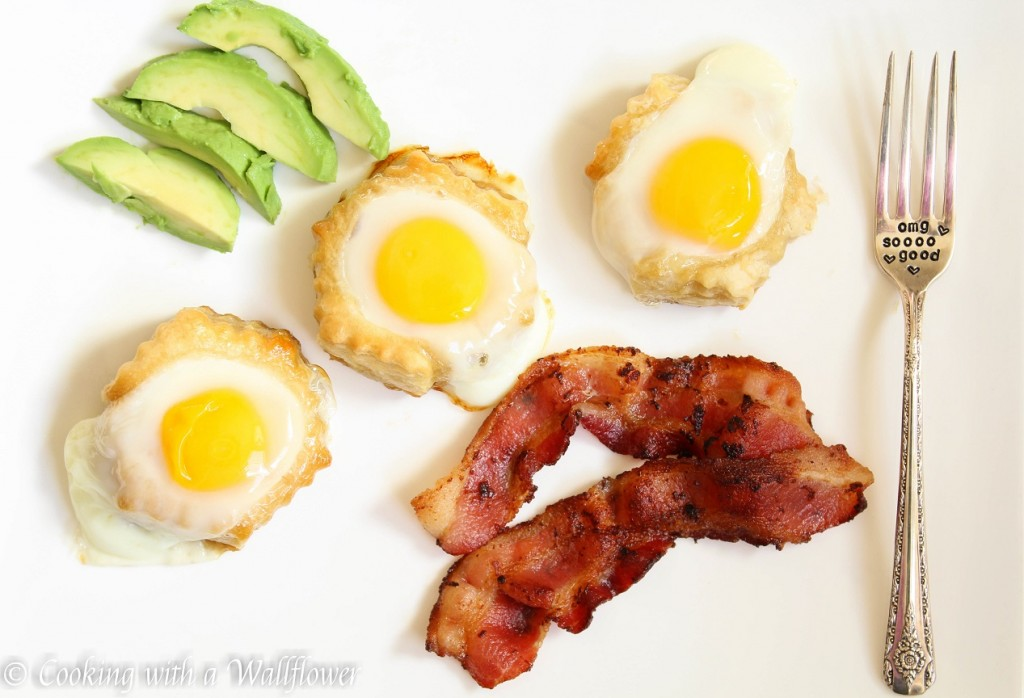 Bacon and Eggs Puff Pastries | Cooking with a Wallflower