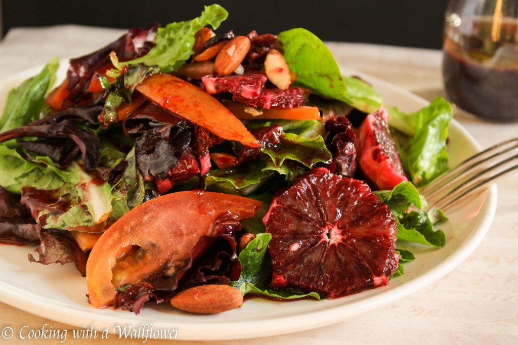 Citrus Salad with Blood Orange Balsamic Vinaigrette | Cooking with a Wallflower