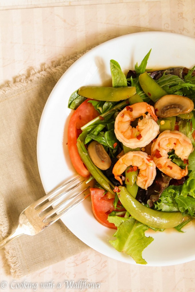Shrimp Mushrooms Madeira Salad | Cooking with a Wallflower