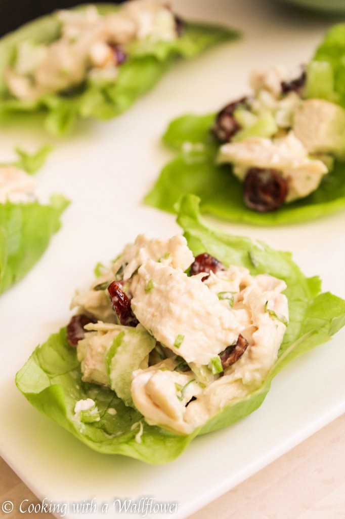 Chicken Tarragon Lettuce Wraps | Cooking with a Wallflower