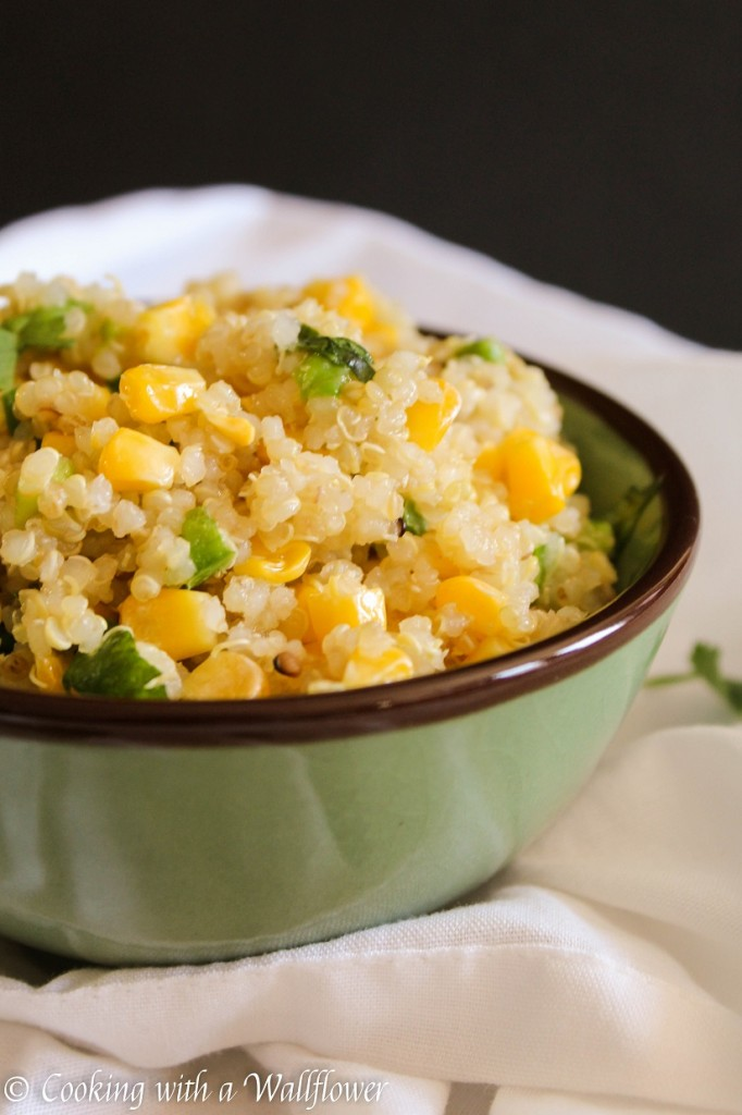 Cilantro Lime Quinoa with Corn and Jalapeno | Cooking with a Wallflower