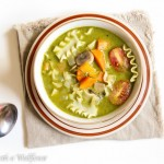 Creamy Pesto Vegetable Lasagna Soup
