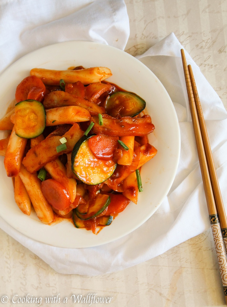 Korean Spicy Sliced Rice Cake