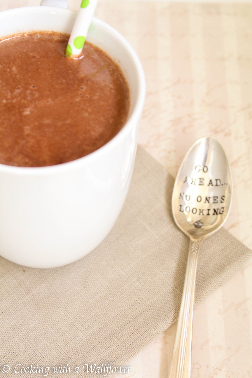 Nutella Hot Chocolate - Cooking with a Wallflower