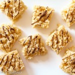 Rice Crispies Treats with Nutella Drizzle