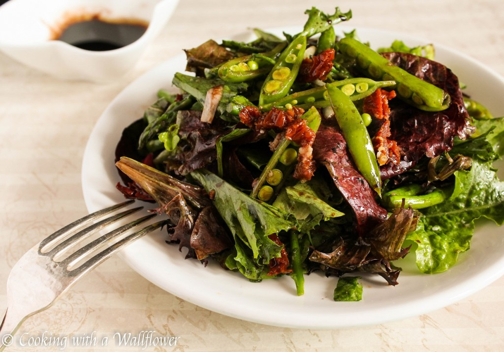 Roasted Asparagus and Snap Peas Spring Salad | Cooking with a Wallflower