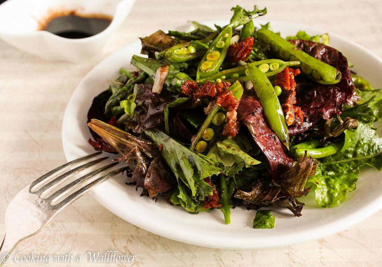 Roasted Asparagus and Snap Peas Spring Salad