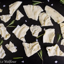 Rosemary Sea Salt White Chocolate Bark | Cooking with a Wallflower