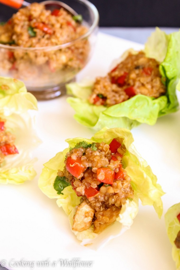 Asian Quinoa Lettuce Wraps | Cooking with a Wallflower