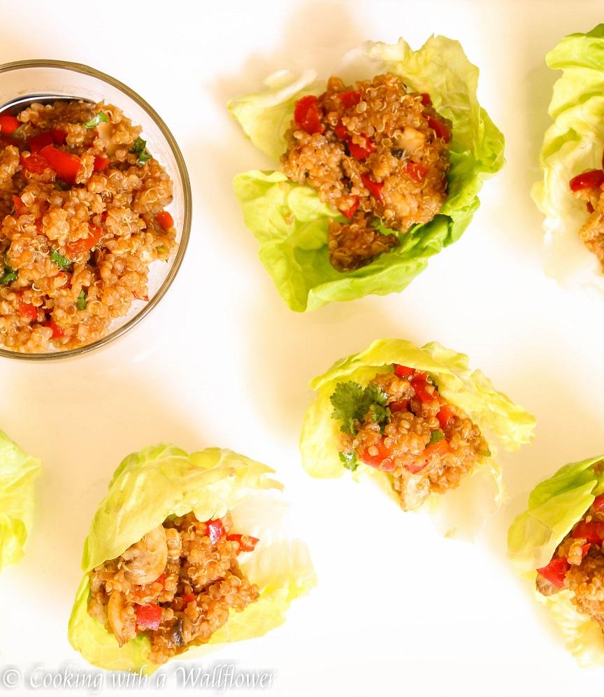 Asian Quinoa Lettuce Wraps