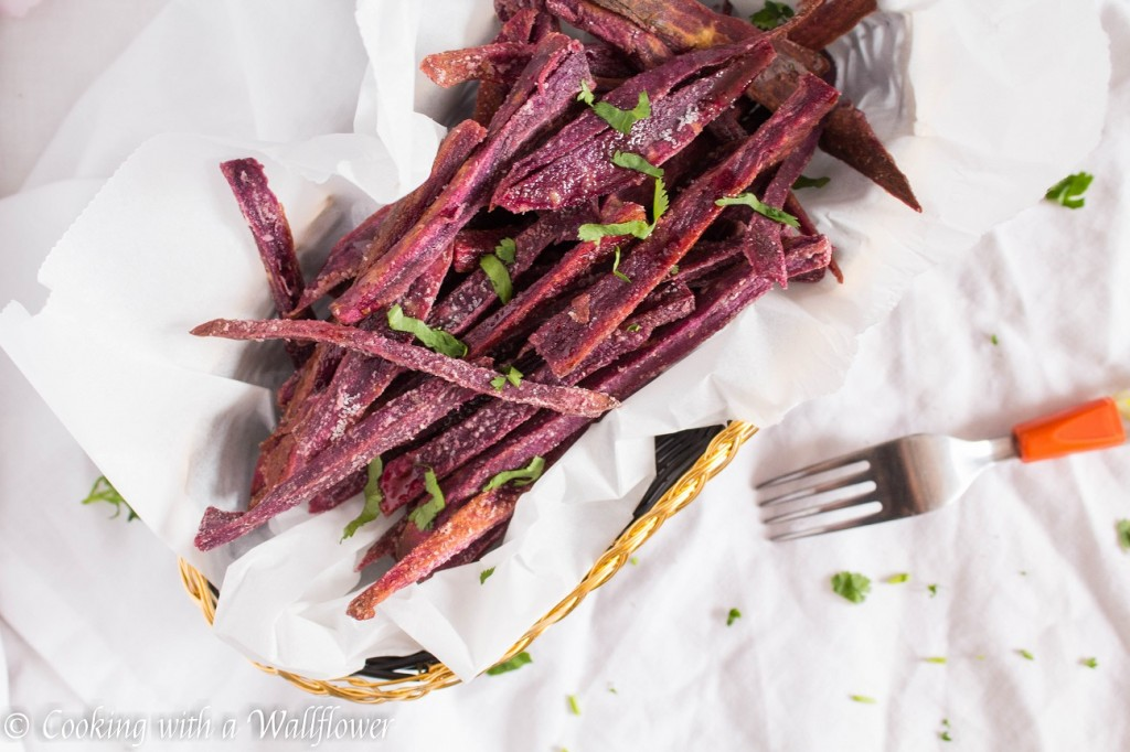 Baked Maple Purple Yam Fries | Cooking with a Wallflower