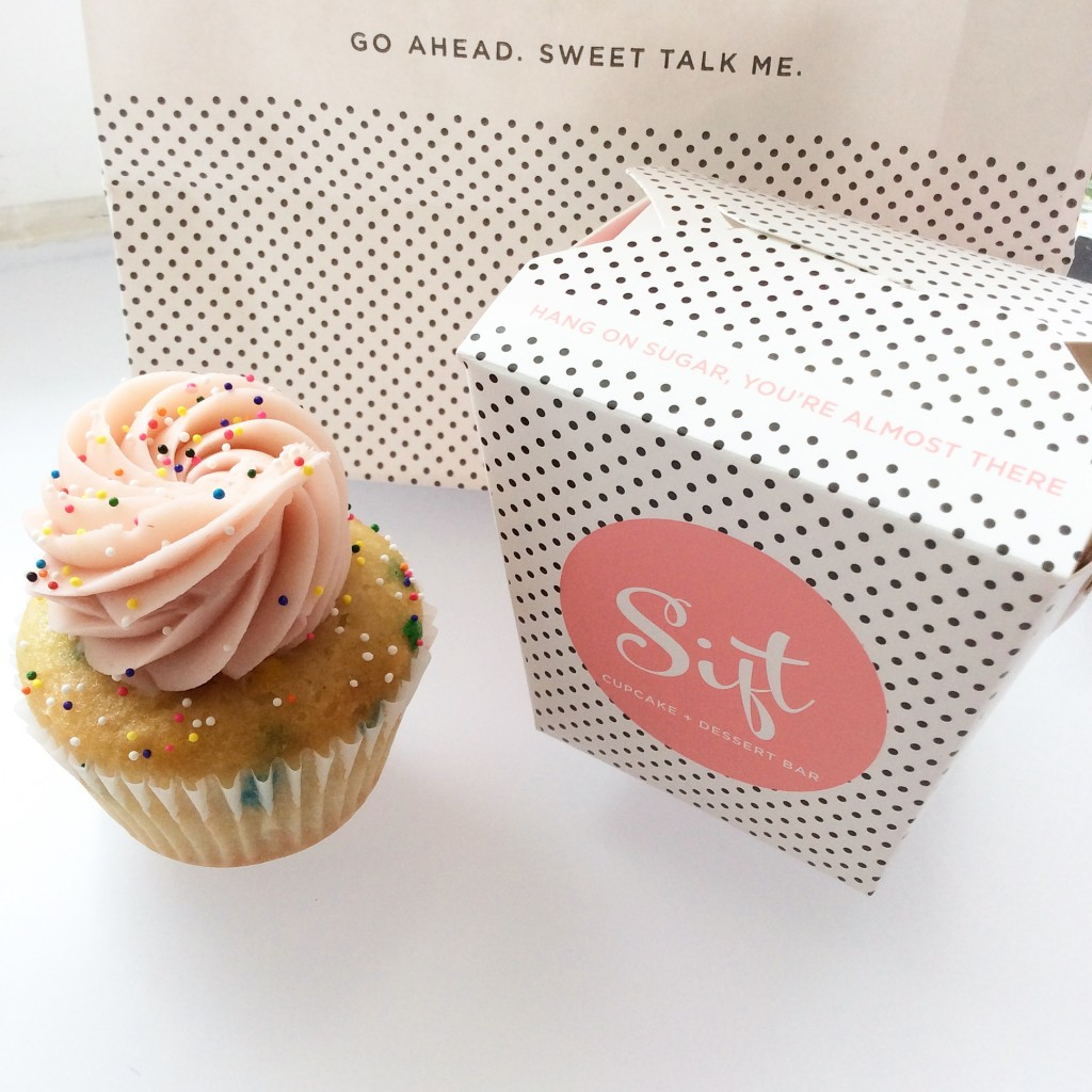 Sprinkle Me Pink Cupcake from Sift Dessert Bar
