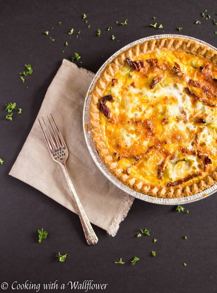 Artichoke and Sun-Dried Tomato Quiche | Cooking with a Wallflower