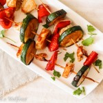 Honey BBQ Vegetable Skewers