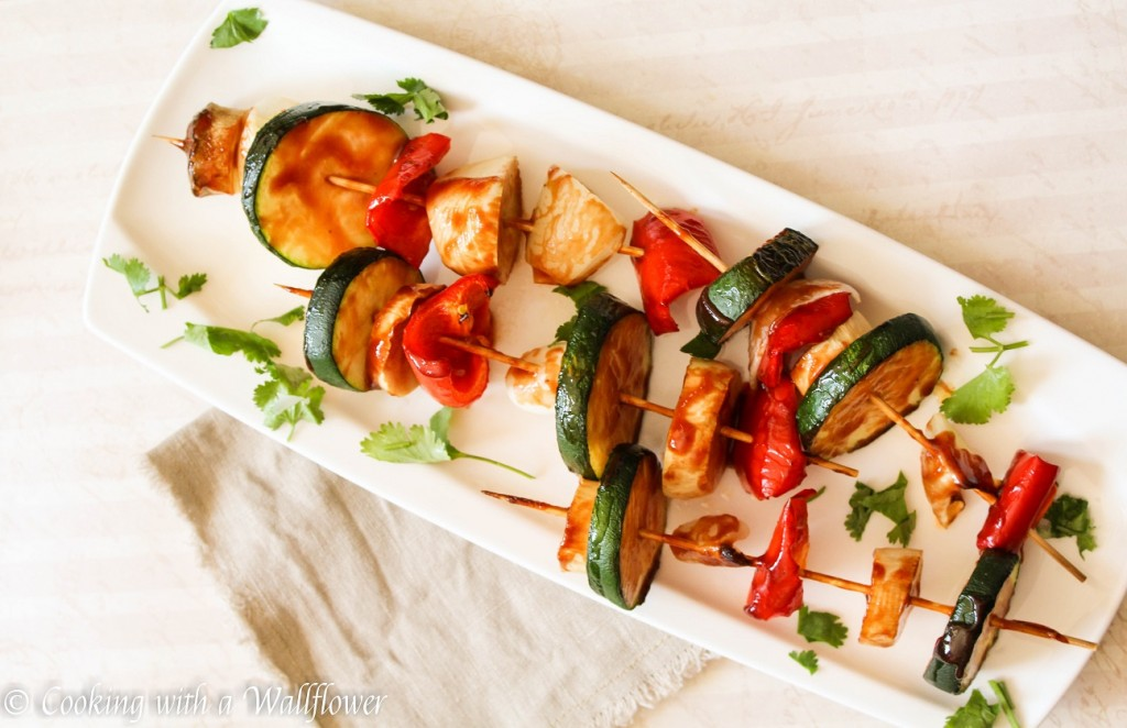 Honey BBQ Vegetable Skewers | Cooking with a Wallflower
