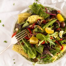 Roasted Vegetable Salad   Cooking with a Wallflower