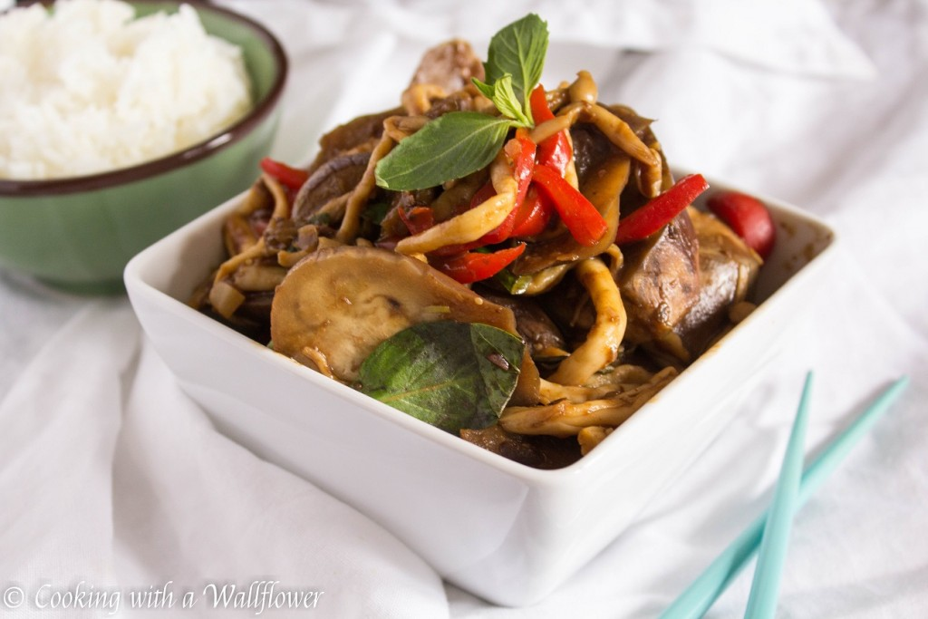 Eggplant and Mushroom Stir Fry with Black Bean Sauce | Cooking with a Wallflower