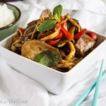 Eggplant and Mushroom Stir Fry with Black Bean Sauce