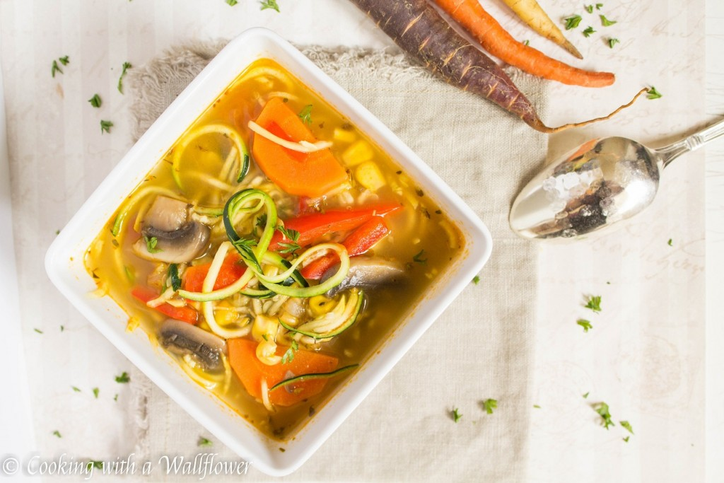 Farmer's Market Vegetable Noodle Soup | Cooking with a Wallflower