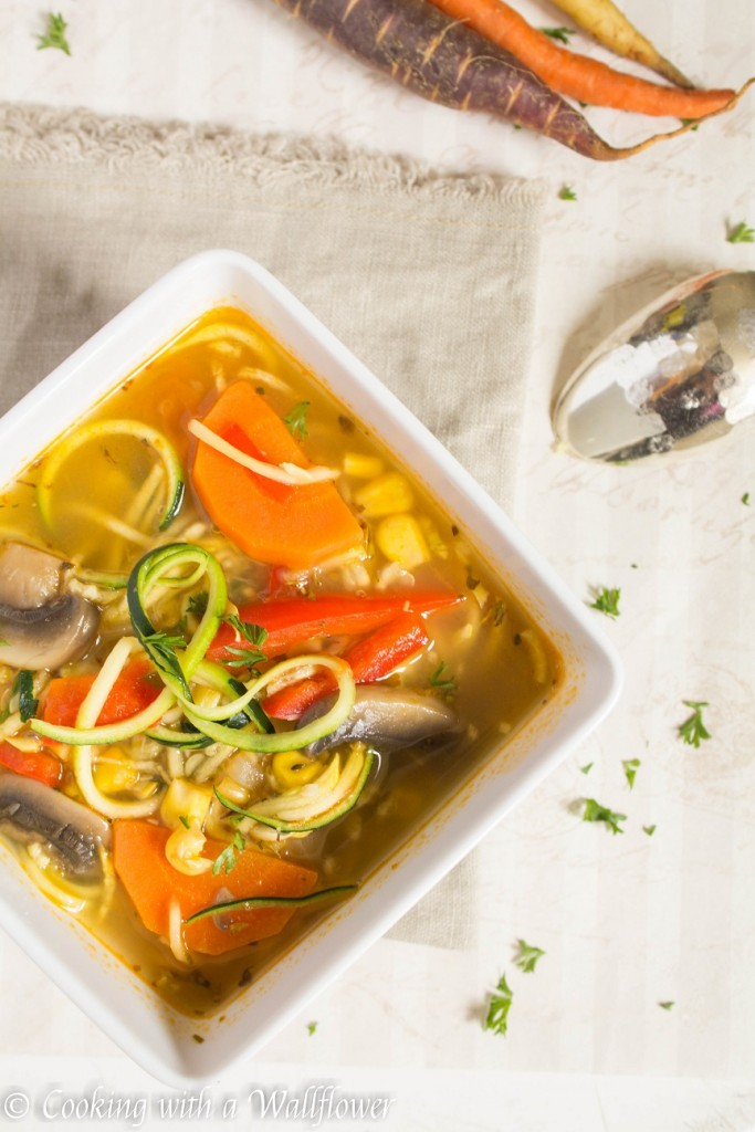 Farmer's Market Vegetable Noodle Soup   Cooking with a Wallflower