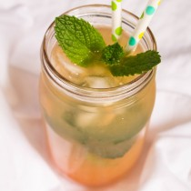 Grapefruit Mint Iced Tea | Cooking with a Wallflower