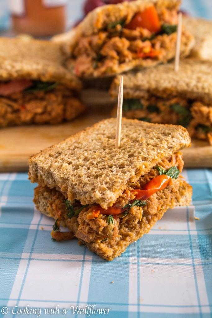 Tuna Festive Tea Sandwiches   Cooking with a Wallflower
