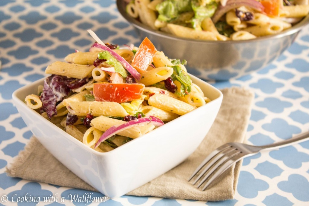 Easy Pasta Salad   Cooking with a Wallflower