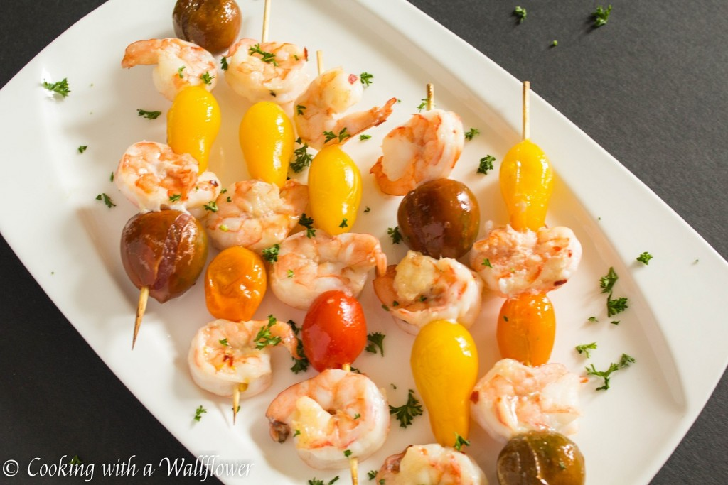Peach Glazed Shrimp Skewers | Cooking with a Wallflower
