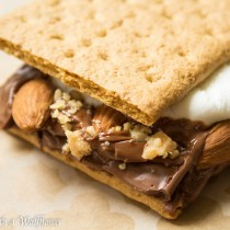 Almond Toffee Crunch S'mores | Cooking with a Wallflower
