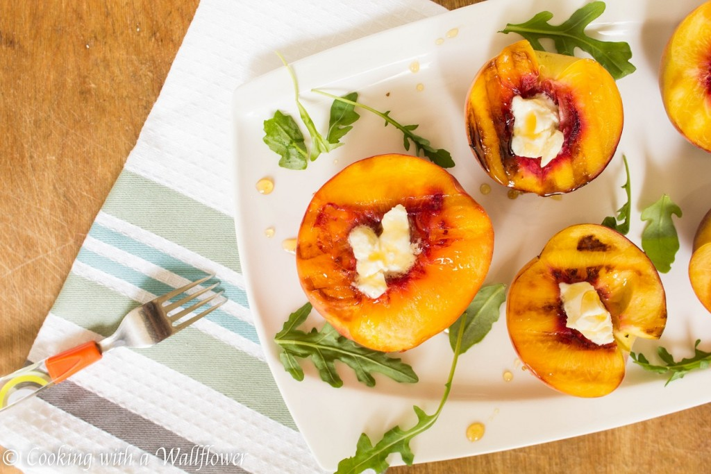 Grilled Peaches with Honey and Mascarpone | Cooking with a Wallflower