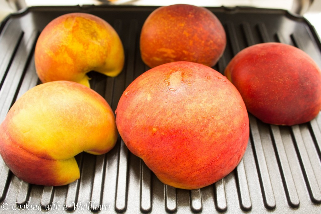 Grilled Peaches with Honey and Mascarpone   Cooking with a Wallflower