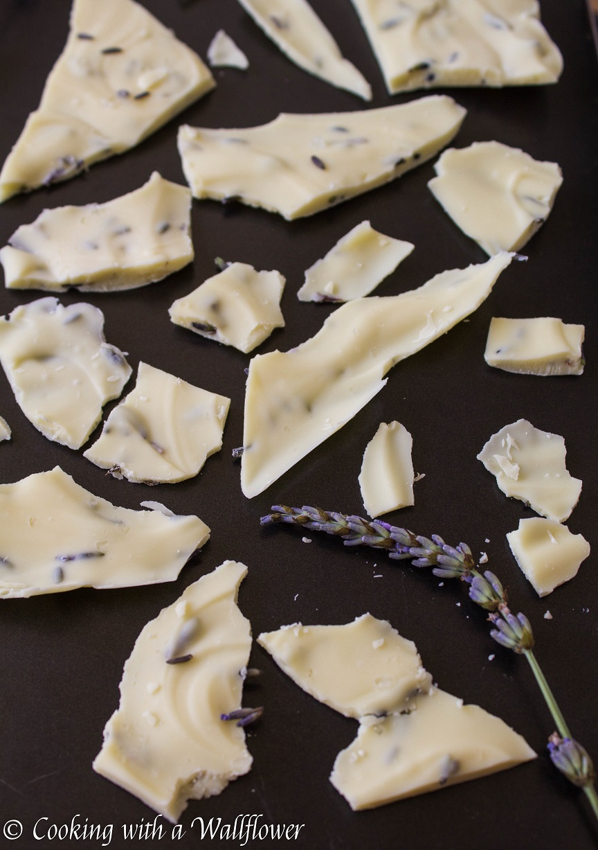 Lavender White Chocolate Bark - Cooking with a Wallflower