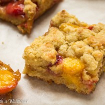 Strawberry Peach Crumble Bars | Cooking with a Wallflower