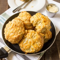 Cheddar Biscuits with Honey Butter | Cooking with a Wallflower
