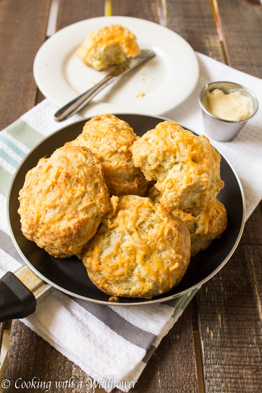 Cheddar Biscuits with Honey Butter