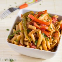 Vegetable Fajita Pasta Vegetable Fajita Pasta | Cooking with a Wallflower