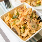 Creamy Sun-Dried Tomato Chicken Penne with Farmer's Market Vegetables Recipe