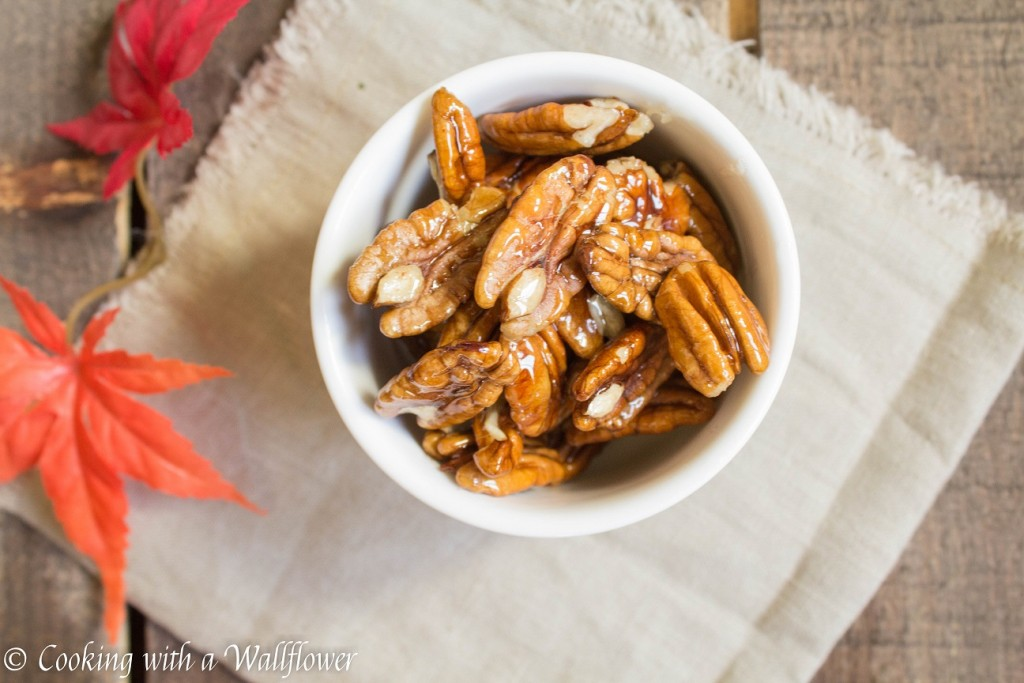 Glazed Candied Pecans   Cooking with a Wallflower