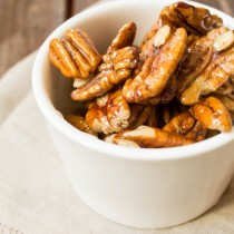 Glazed Candied Pecans | Cooking with a Wallflower