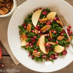 Kale Salad with Cranberries, Apples, and Candied Pecans
