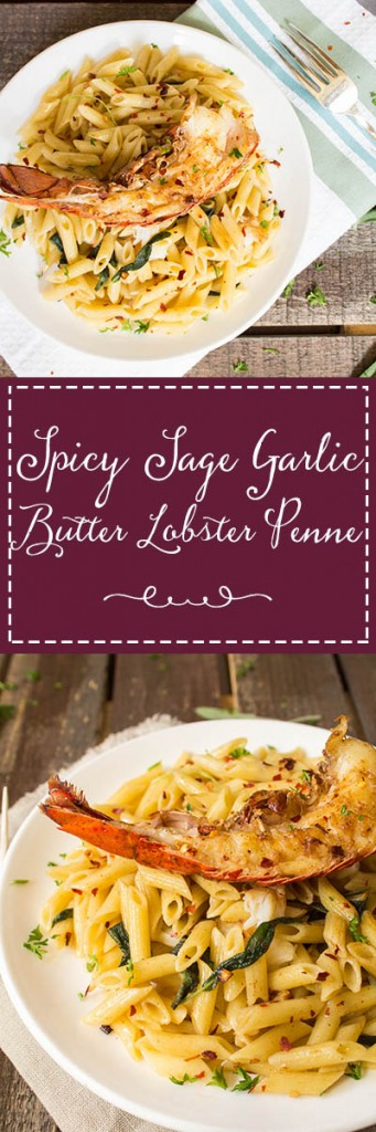 Spicy Sage Garlic Butter Lobster Penne | Cooking with a Wallflower