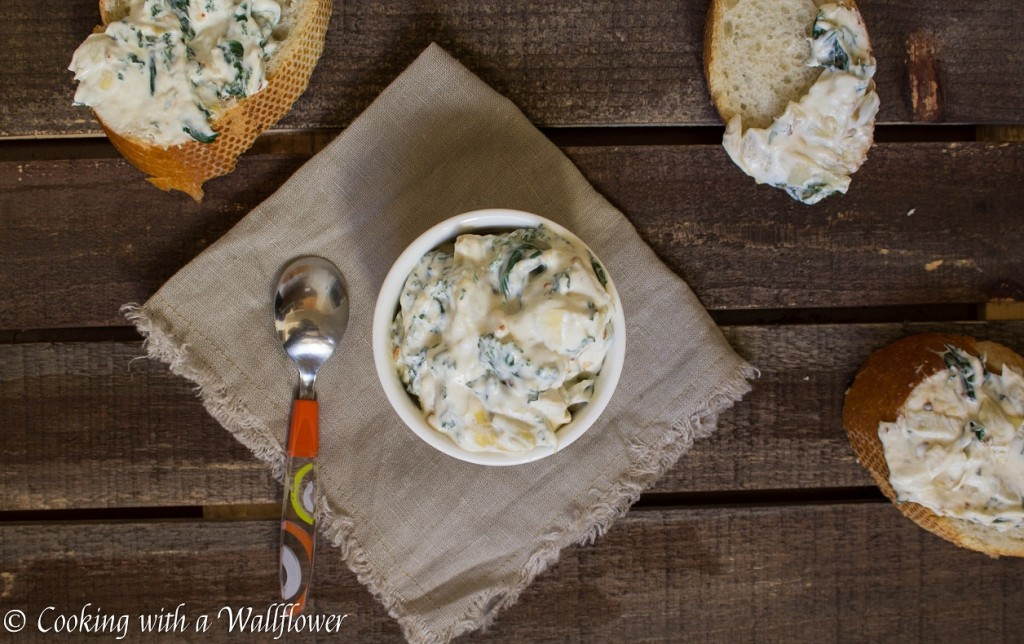 Creamy Kale Artichoke Dip | Cooking with a Wallflower