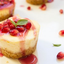 Mini Vanilla Cheesecake with Pomegranate Sauce   Cooking with a Wallflower