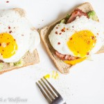 Avocado Toast with Sunny Side Egg and Ham