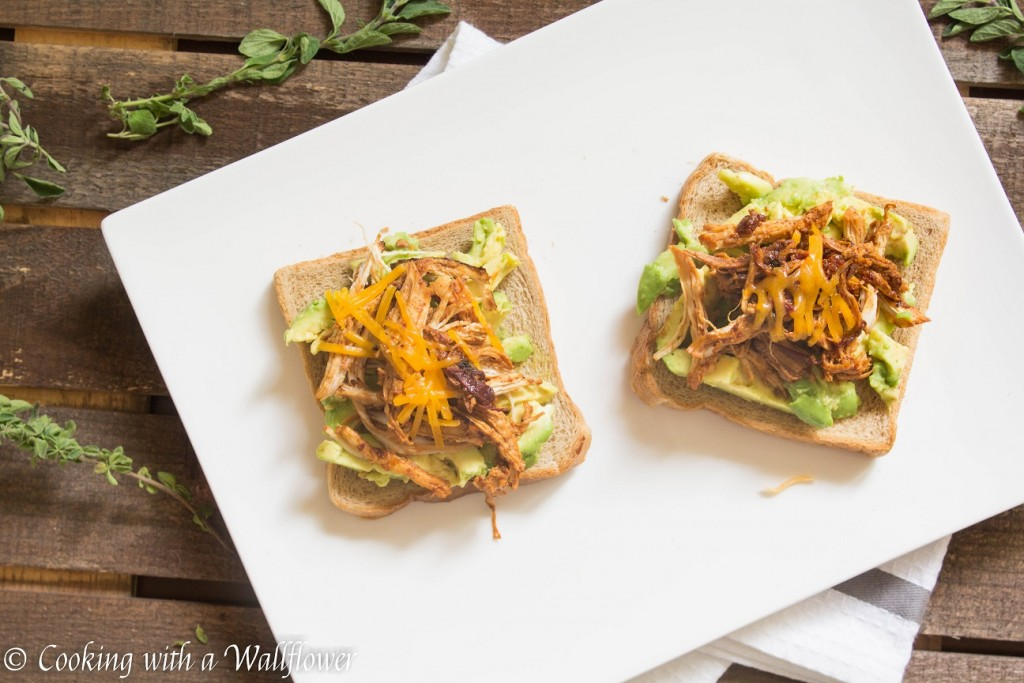 Honey Chipotle Chicken Avocado Toast | Cooking with a Wallflower