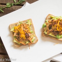 Honey Chipotle Chicken Avocado Toast   Cooking with a Wallflower